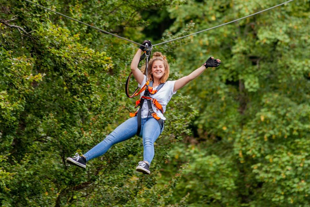 Zipline Eifel Ferienpark Freizeitpark Eifeladventures Vulkaneifel
