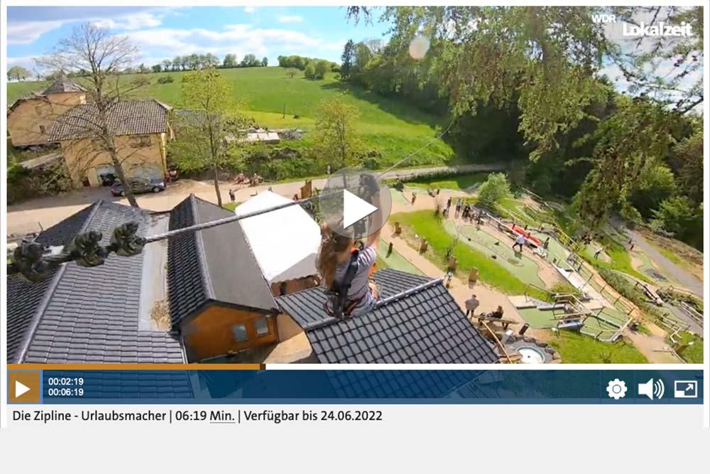 Ziplining WDR Fernsehn Beitrag